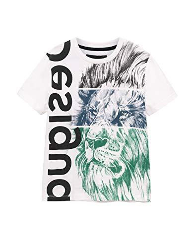Desigual Jungen TS_Freddie T-Shirt, Weiß (Blanco 1000), 128 (Herstellergröße: 7/8)