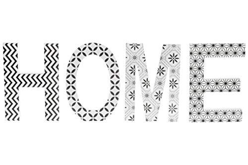 elbmoebel decorazione scritta love o Home in Legno Colorato Bianco Rosa Verde con cornice foto rotonda per cifre in legno decorazione Home - Schwarz-weiß