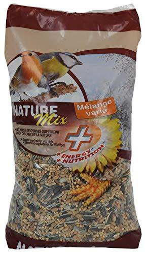 Agrobiothers Nourriture Nature Mix+ 1 Kg pour Oiseaux et Animaux Sauvages