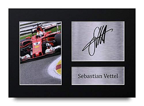 HWC Trading Sebastian Vettel A4 Ungerahmt Signiert Gedruckt Autogramme Bild Druck-Fotoanzeige Geschenk Für F1 Formel Eins Fans