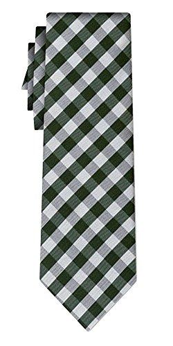 Cravate soie tartan pattern dkgrn silver