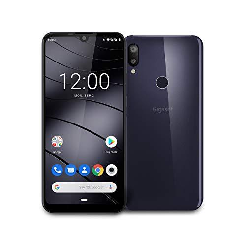 """Gigaset GS190 Smartphone ohne Vertrag mit 3GB Arbeitsspeicher Made in Germany, Handy mit 6,1"""" V-Notch Display, Gesichtserkennung, Dual-SIM, 32GB Speicher, 4000 mAh Akku, Night Shade Blue"""