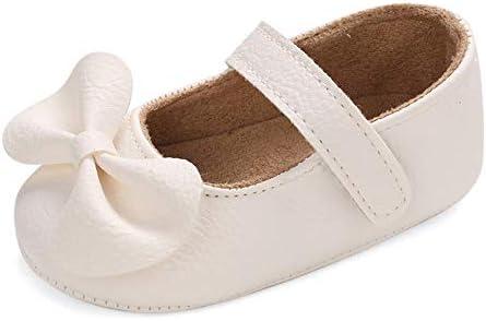 LACOFIA Bailarinas Princesas Bebé Niñas Zapatos Bowknot Bebé Primeros Pasos con Suela Suave Antideslizante Blanco 3-6 Meses
