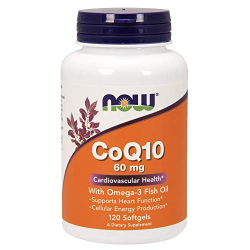 NOW Supplements, CoQ10 60 mg with Omega 3 Fish Oil, Cardiovascular...