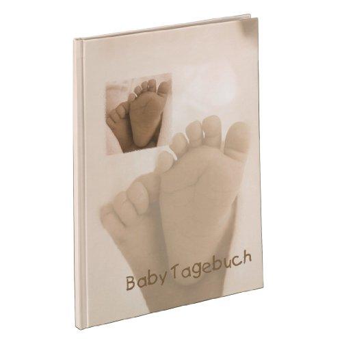 Hama Baby-Tagebuch für Jungen und Mädchen (Babyalbum mit 44 illustrierten Seiten, Album zum Selbstgestalten) beige