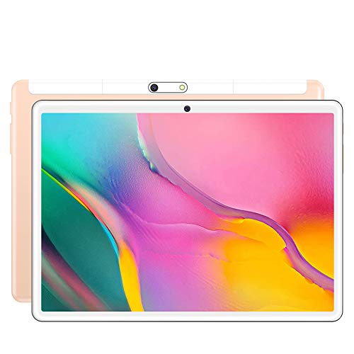 S10 Tablet, Android 8.0 Pie Tablet 10.1 inch,1280 * 800 HD IPS Screen,3G Phone Call Phablet PC,Quad-core/ Dual Cameras/HDMI/ Bluetooth/WiFi,portable entertainment (Gold)