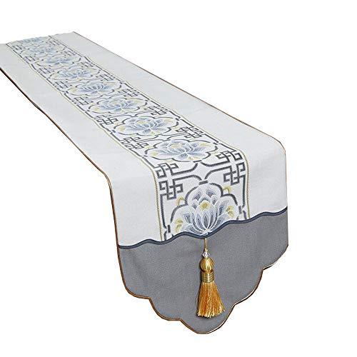 MEI XU Chemins de table - Nouveaux chemins de table classiques chinois Porche Table à manger Meuble TV Table basse Meuble à chaussures Tissu Serviette Lit Décoration de la maison Longue nappe Décorati