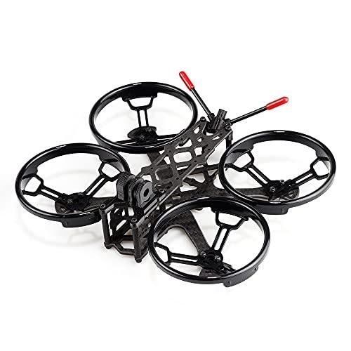 DingPeng Sector25CR 132mm Fibra di Carbonio Rack Drone Ultralight Blocking Kit 2,5 mm Braccio con Protezione dell'elica for Freestyle 2.5 Pollici FPV Racing Drone Quadcopter Accessori Ricambi