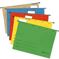 Herlitz - Lote de carpetas colgantes (5 unidades, A4), varios colores