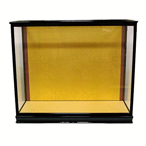 人形ケース ガラス人形ケース ガラスケース 雛人形ケース 五月人形ケース 戸付 市松用13号黒 幅 間口36奥行27高52cm(ガラス寸法)内計り