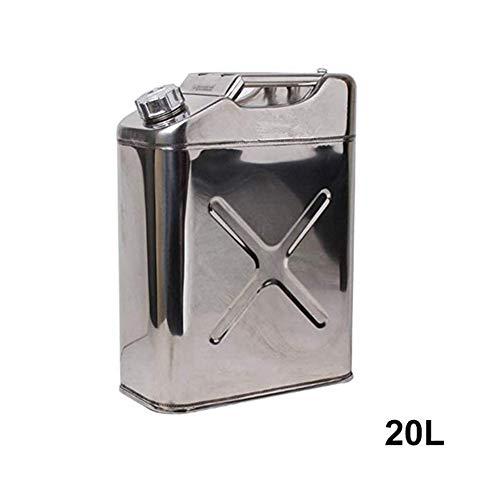 QWEZXC 20 Liter Metall Jerry Kanister, Heizöl Abwasser Benzin Diesel-Lagertank - Mit Umgekehrter Ölleitung Ölbehälter Benzin Diesel-Lagertank