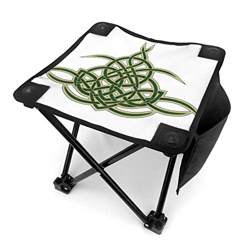 Zteeg Folding Doubleoriginal Celtic Shield Gothic Design Abstract Scotland Medieval Style Art Sided Printing Chair for Outdoor Camping is Light, Portable and Durable
