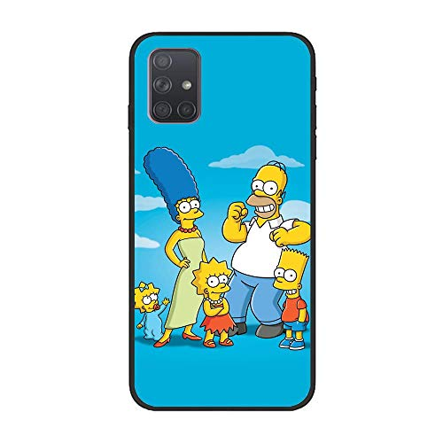 Soft Black Shockproof Thin Durable Flexible Case for Samsung Galaxy A51-The-Simpson Homer-Father 3