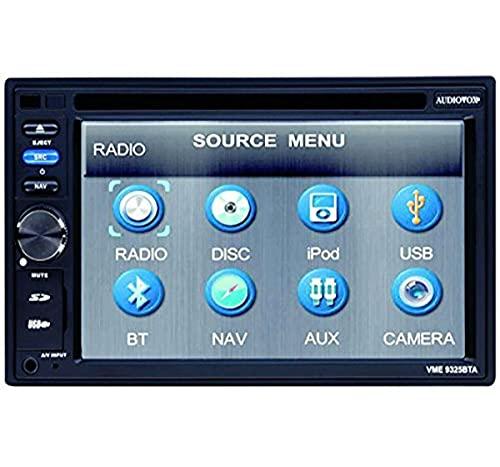 Audiovox VME 9325 BTA Headunit mit Navigation Mix-Mode (15,7 cm (6,2 Zoll), Touchscreen, DVD±R/RW, Kartenslot, USB 2.0)