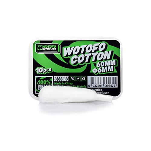Wotofo Cotton Prebuilt Wire 6mm Watte Profile RDA Fertigwickelung Verdampfer Selbstwickler 10er Pack ohne Nikotin