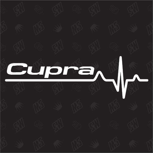 Cupra Herzschlag - Sticker kompatibel mit Seat