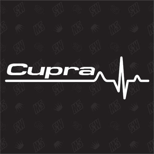Cupra Herzschlag - Sticker für Seat