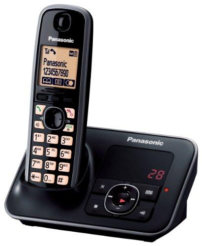 Panasonic KX-TG6621GB Telefon schnurlos mit Anrufbeantworter (1 Mobilteil) schwarz
