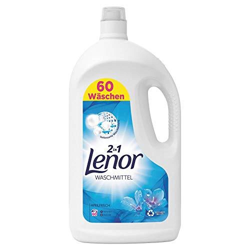 Lenor Waschmittel Flüssig, Flüssigwaschmittel, Lenor Aprilfrisch mit Duft von Frühlingsblumen, 60 Waschladungen (3.3 L)