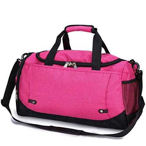 LCTCBB Sac en Nylon de Grande capacité pour Hommes, Bagages à Main, Sacs de Voyage, Sacs de Week-End en Nylon (Couleur : Pink)