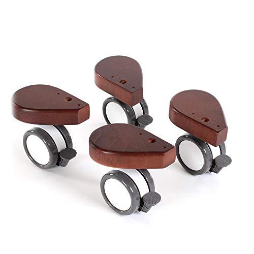 babybay Jeu de Roulettes Spécial avec Coup Protection Convient pour Tous Modèles Laqué Brun Foncé 1 Unité