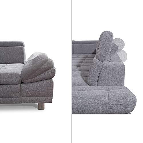 "Ecksofa günstig: Cavadore Sofa ""I"" in L-Form /   Ottomane Bild 2*"