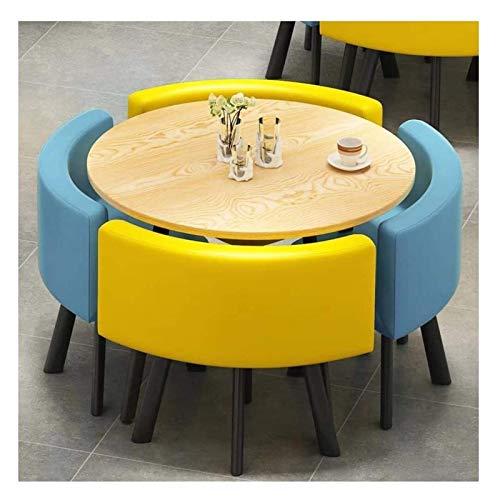 Conjunto de mesa de comedor para cocina o decoraci Tabla sencilla y moderna Juego de sillas de oficina Reunión de negocios Mesa de negociación y combinación Chair Cafe Milk Tea Shop tienda de la panad