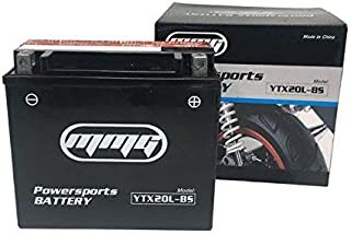 MMG YTX20L-BS High Performance Powersports Battery Compatible with Harley Davidson XL, XLH (Sportster), FLST Series (Softail), FXD/FXST Series (Dyna), CVO Dyna Softail