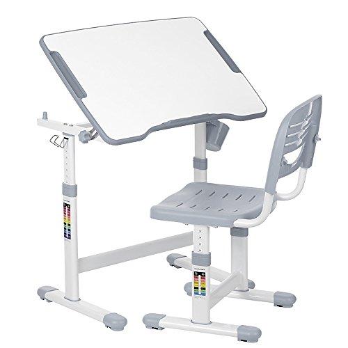 IKAYAA - Juego de sillas de Escritorio Ajustables para niños, Mesa de Actividades para niños de 3 a 10 años