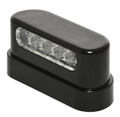 12V LED Kennzeichenbeleuchtung schwarz Black Nummernschild für Harle-Davidson Motorrad
