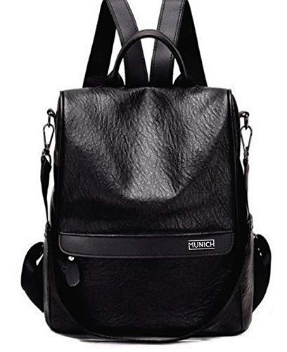 Munich 499903, Bolso mochila para Mujer, Negro (Negro), 15x30x30 cm (W x H x L)
