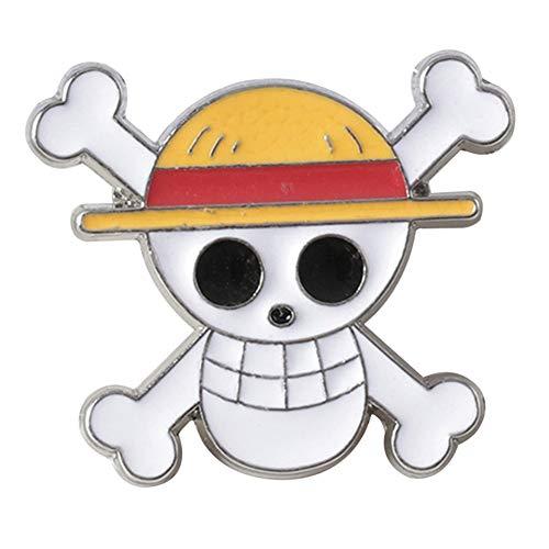 AMA-StarUK36 One Piece Abzeichen anime cartoon charakter legierung abzeichen taste sammeln brosche tasche neuheit nette anime kleidung zubehör(H02)