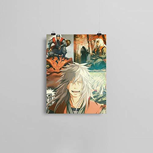 wZUN Póster de Lienzo de Anime Ninja, Pintura de Pared, decoración artística, Sala de Estar, Dormitorio, Estudio, decoración del hogar, impresión 57x80cm Sin Marco