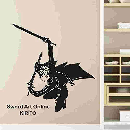 wZUN Schwert Kunst Online Wandtattoo Vinyl Wandtattoo Dekoration Home Decoration Anime Auto Aufkleber 58x61cm