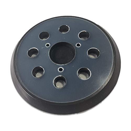 Placa de respaldo, repuesto para Makita 743081-8, BO5010, BO5030K - DeWalt 151281-08, DW4388 - Porter Cable DW421/K, DW423/K, lijadoras orbitales de 5 pulgadas (125 mm) engancha y enlaza.