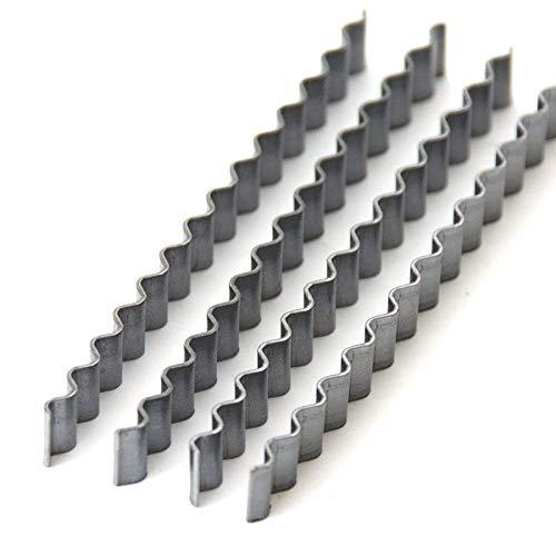 BEKATEQ Estrichklammern, 100Stk. 70x6mm, Wellenverbinder Estrich reparieren, Garagenboden sanieren mit Epoxidharz Gießharz
