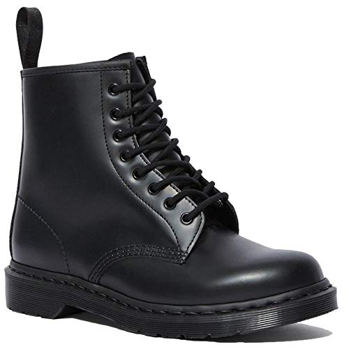 Price comparison product image Dr. Martens - 1460 Mono 8-Eye Leather Boot for Men and Women,  Black Smooth,  11 US Women / 10 US Men