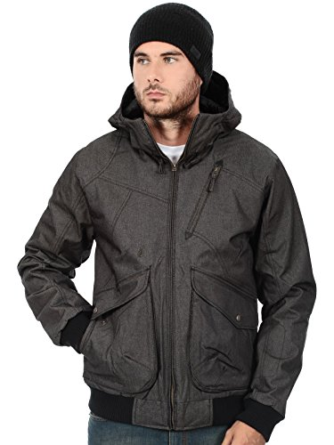 Volcom Cavelier II - Blouson - Manches longues - Homme - Noir (Blk) - Small (Taille fabricant: S)