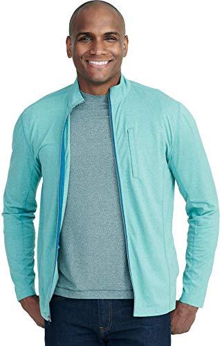 UNTUCKit Phiefer Pavitt – Men's Workout Sweatshirt Gym Sports Full Zip Jacket Beryl Green XX-Large-Regular Fit