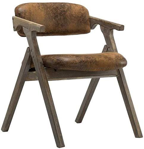 DGSD Sedia da Pranzo in Legno massello Sedia Pieghevole retrò Morbida con Schienale e braccioli per Il Tempo Libero,Retro Flannel