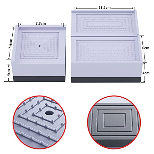 Decdeal 4 Pack Washing Machine Feet PadsAnti Vibration Pads Non-Slip Shock and Noise Cancelling Height Adjustable Pads for Washing Machine Dryer Fridge Furniture Home Appliances