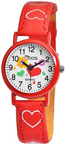 Qbos Kinderuhr Armbanduhr rot