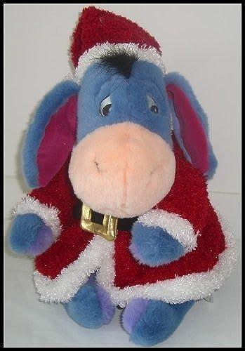 Disney Store Christmas Santa EEYORE Plush 12 by Disney Interactive Studios