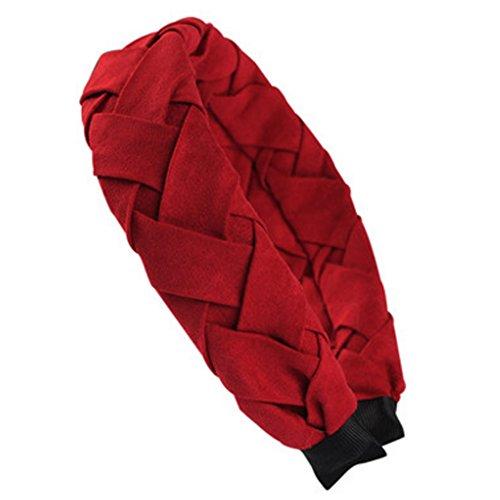 Femmes très large élégant bandeau cheveux bande Hairband accessoire, Rouge