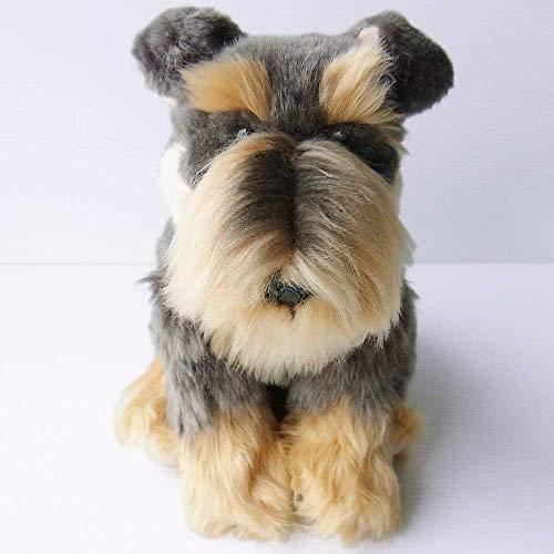 "Faithful Friends Schnauzer Dog Stuffed Animal 12""/30cm Grey"