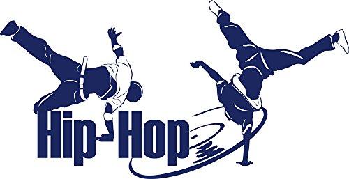 GRAZDesign Wandsticker Wanddeko Jugendzimmer Hip Hop Tänzer - Wandtattoo Kinderzimmer Mädchen Jungen Breakdancer Cool Street Art / 111x57cm / 049 königsblau