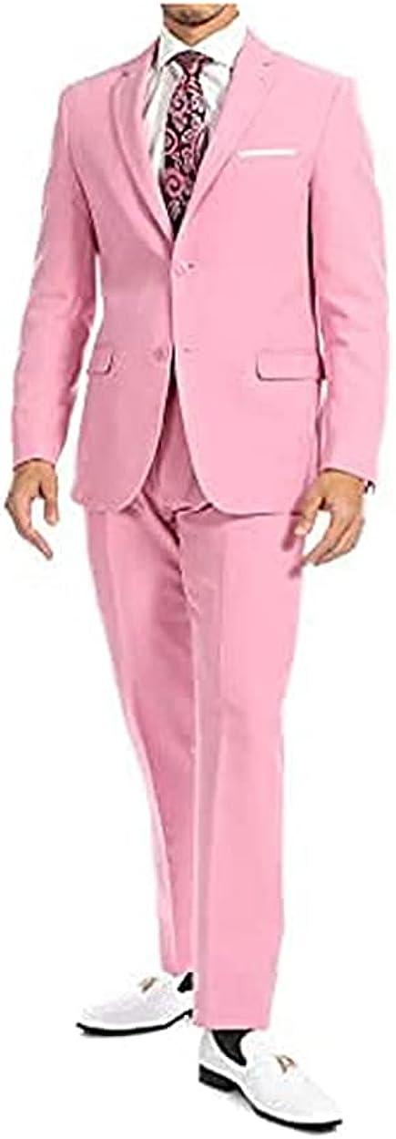 Paul Lorenzo Mens Slim Fit 2 Piece Suit | Slim Fit Suit | 2 Piece Suit