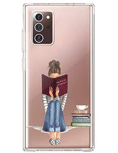 Croazhi Handyhülle Kompatibel mit Samsung Note 20 5G Hülle Schutzhülle Silikon Transparent Blumen Ultra Thin 360 Stoßfest Hülle Bunt Handyhülle für Galaxy Note20 5G 2020 Handy Tasche