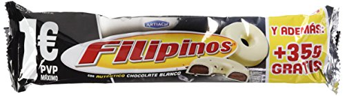 Artiach - Filipinos - Galleta Bañada con Chocolate Blanco - 135 g - [Pack de 5]