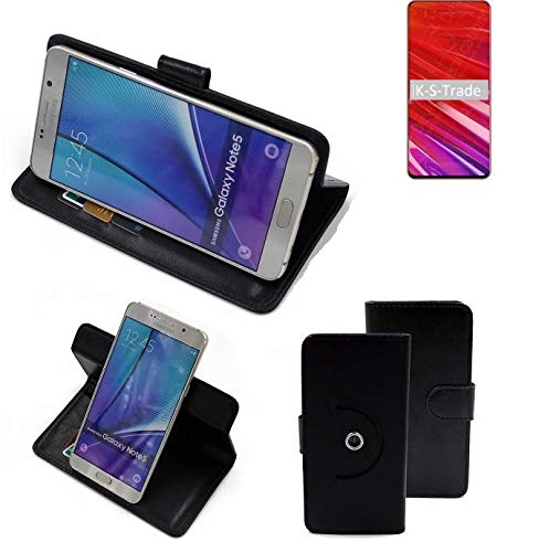 K-S-Trade® Handy Hülle Für Lenovo Z5 Pro GT Flipcase Smartphone Cover Handy Schutz Bookstyle Schwarz (1x)